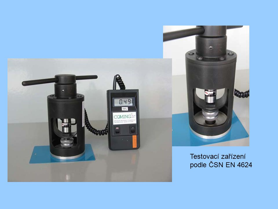 Testovací zařízení podle ČSN EN 4624
