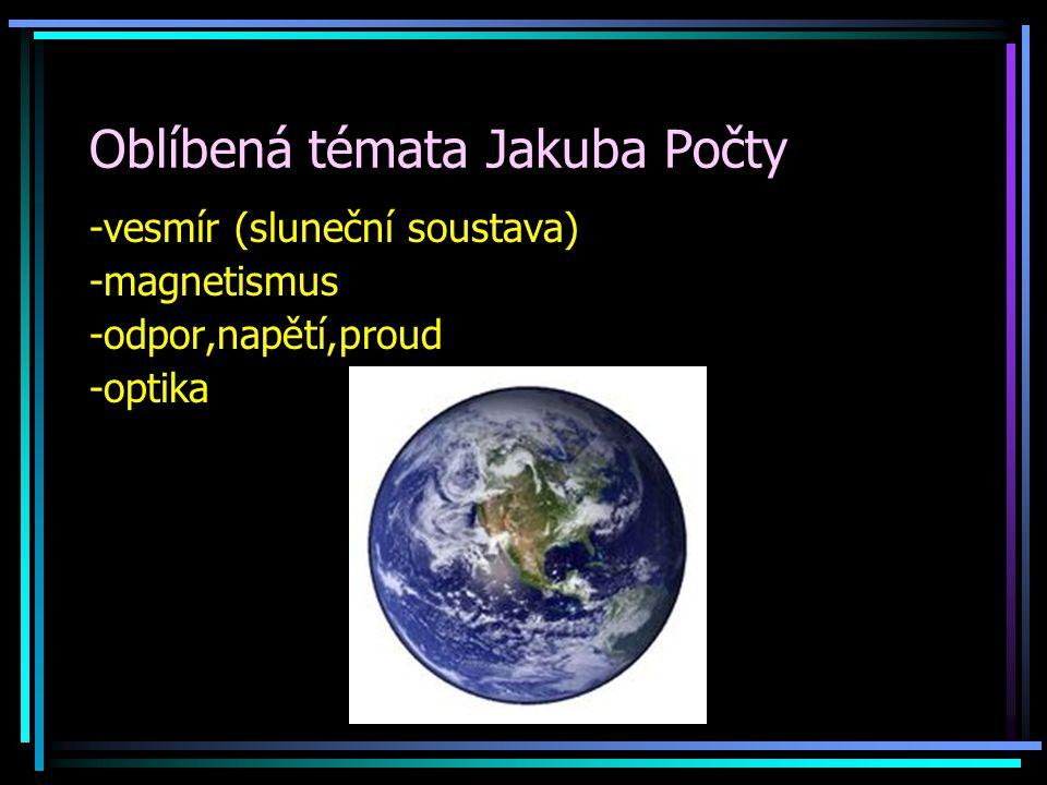 Oblíbená témata Jakuba Počty