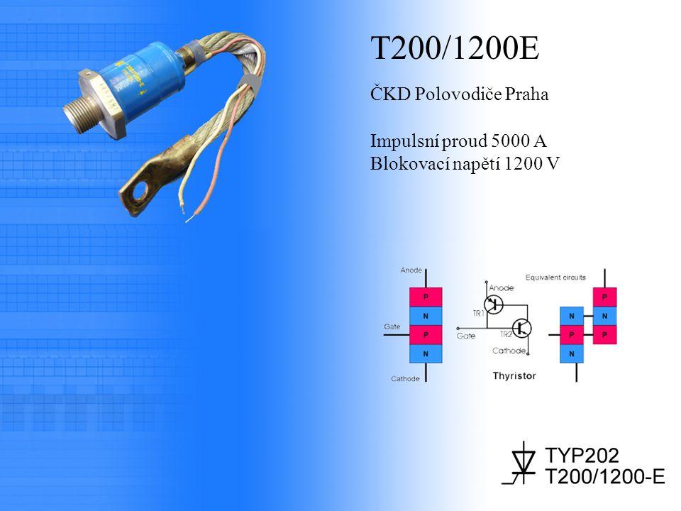 T200/1200E ČKD Polovodiče Praha Impulsní proud 5000 A