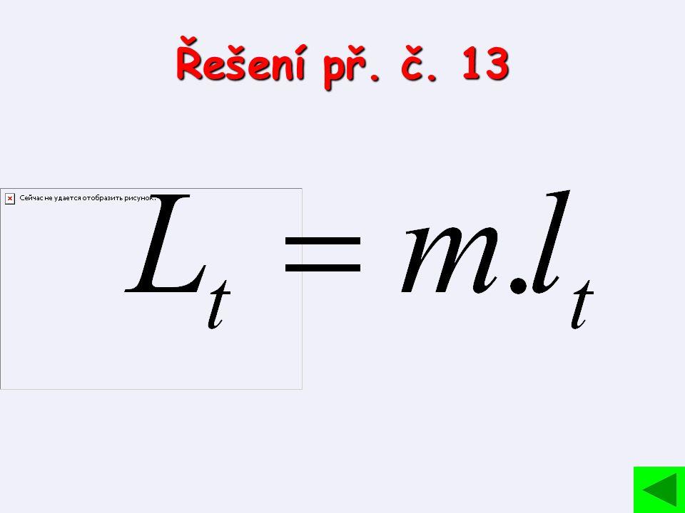 Řešení př. č. 13
