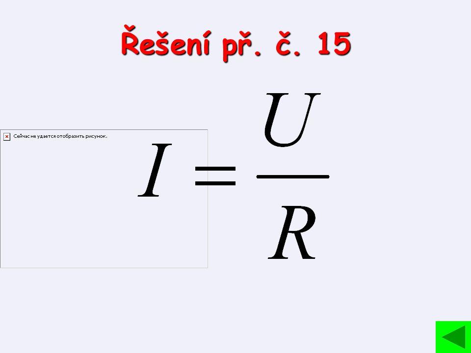 Řešení př. č. 15