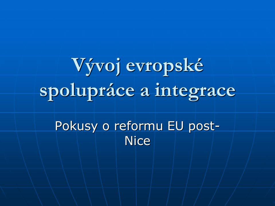 Vývoj evropské spolupráce a integrace