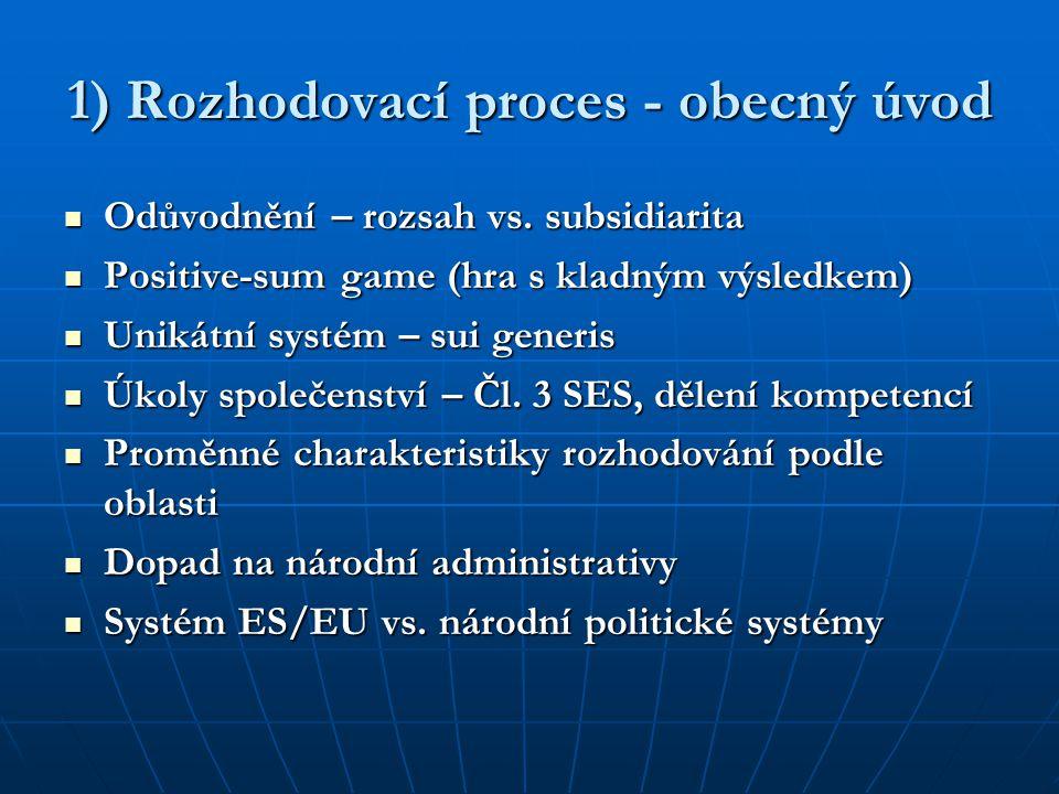 1) Rozhodovací proces - obecný úvod