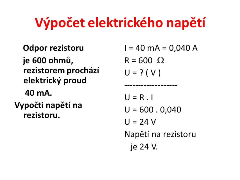 Výpočet elektrického napětí