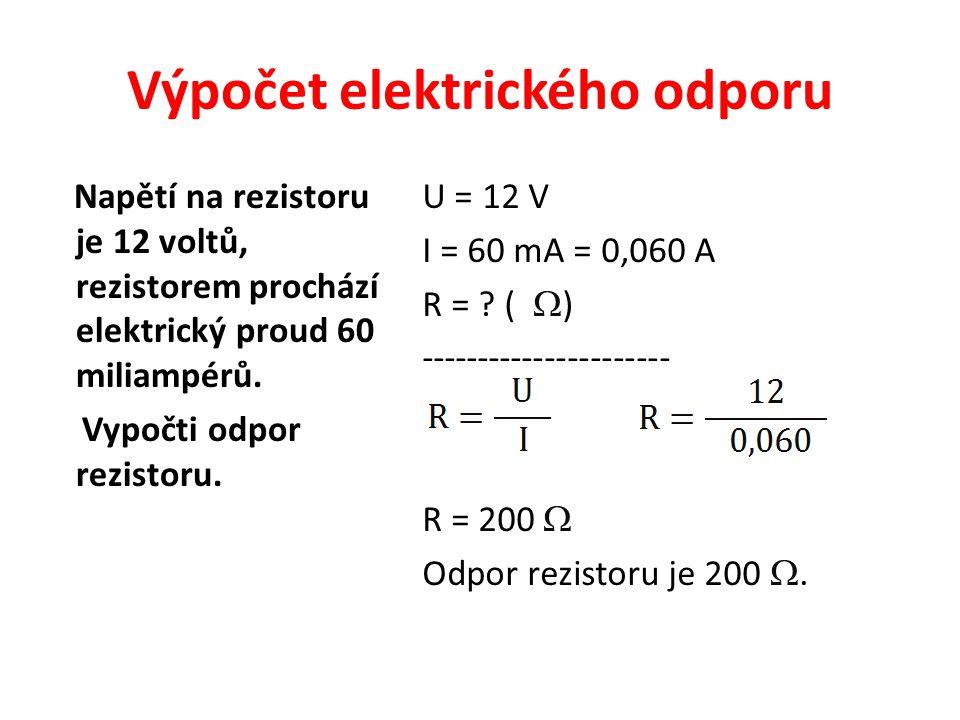 Výpočet elektrického odporu
