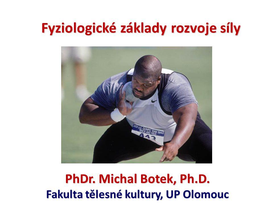 Fyziologické základy rozvoje síly Fakulta tělesné kultury, UP Olomouc
