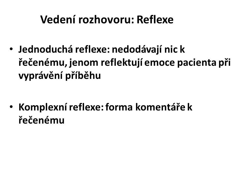 Vedení rozhovoru: Reflexe