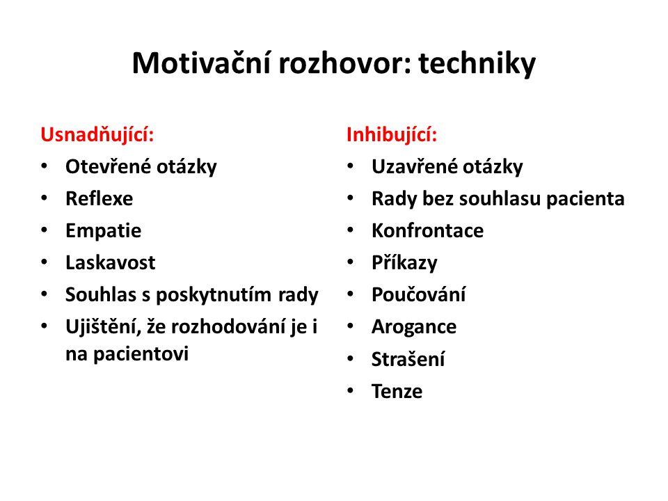 Motivační rozhovor: techniky