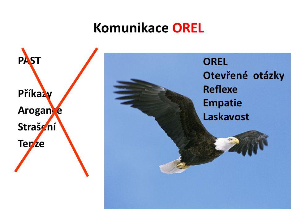 Komunikace OREL PAST OREL Otevřené otázky Příkazy Reflexe Empatie