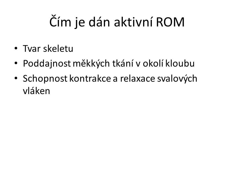 Čím je dán aktivní ROM Tvar skeletu