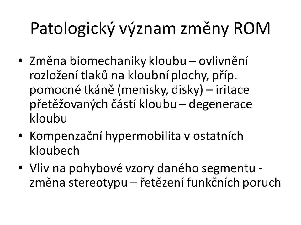 Patologický význam změny ROM