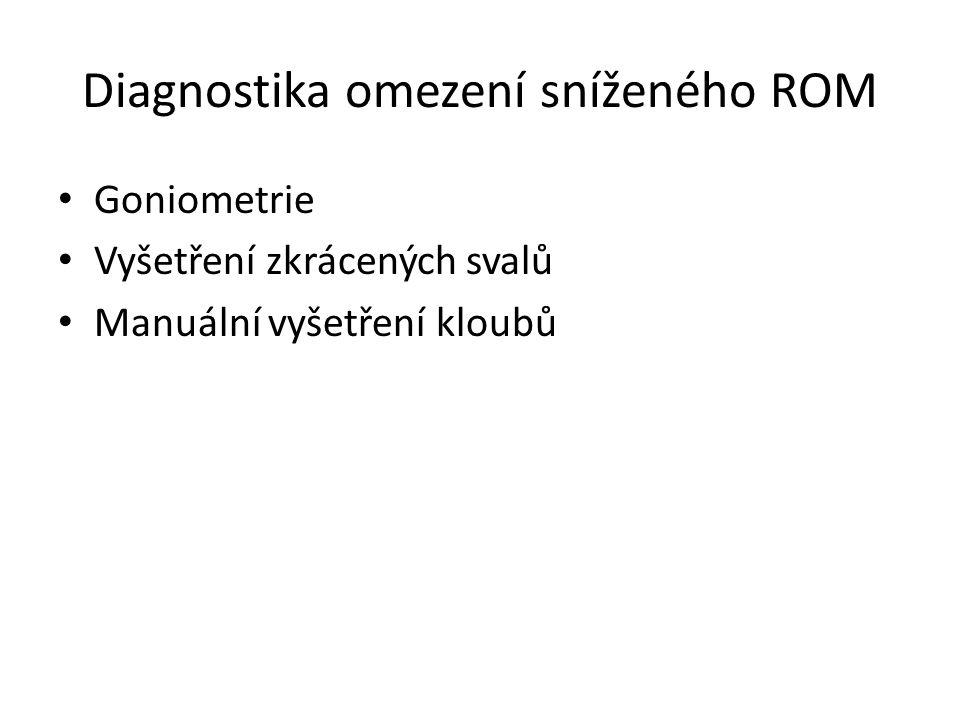 Diagnostika omezení sníženého ROM