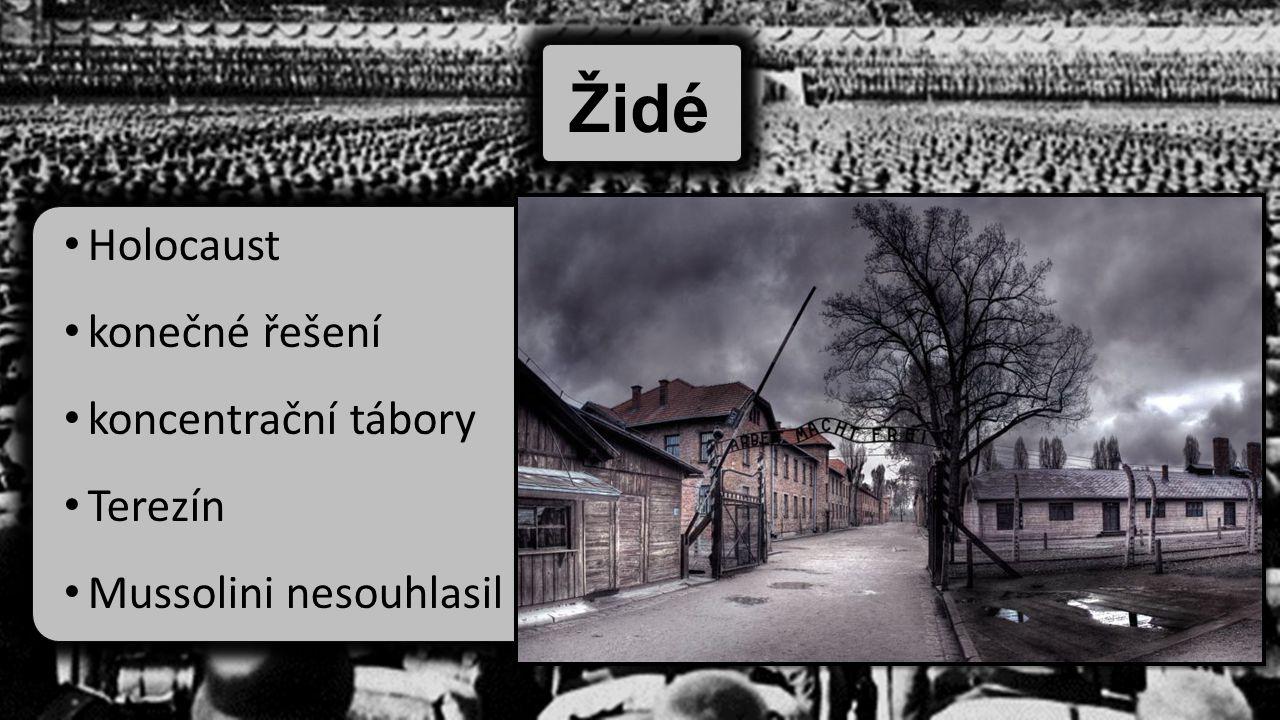 Židé Holocaust konečné řešení koncentrační tábory Terezín