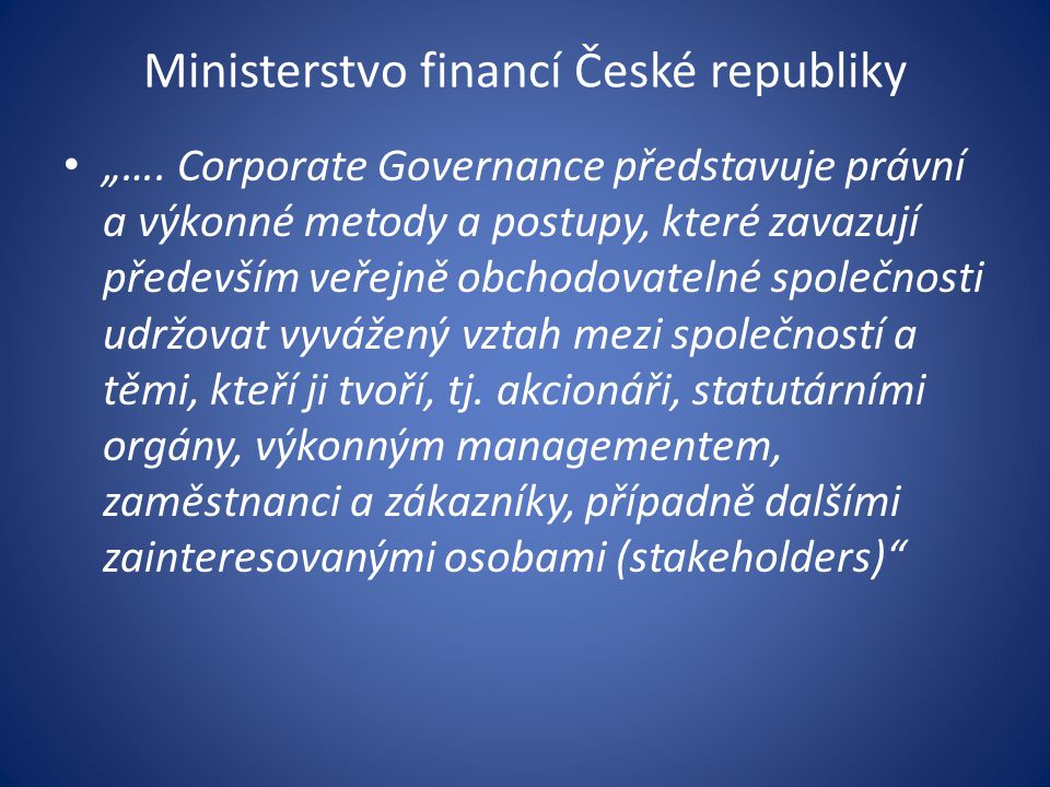Ministerstvo financí České republiky