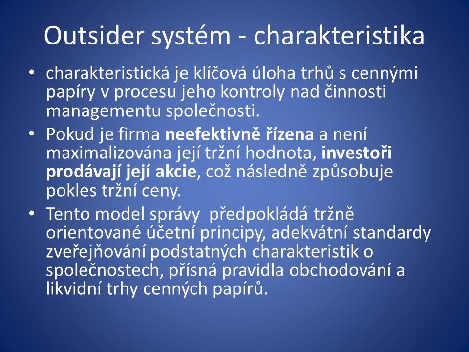 Outsider systém - charakteristika