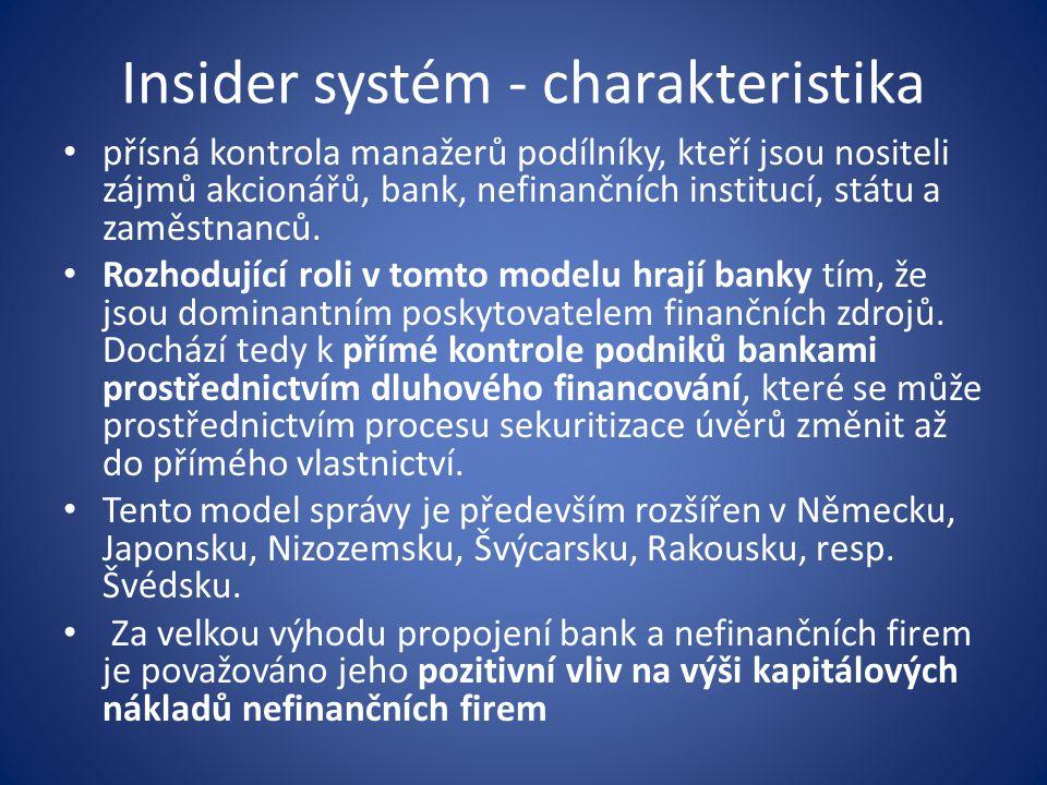 Insider systém - charakteristika