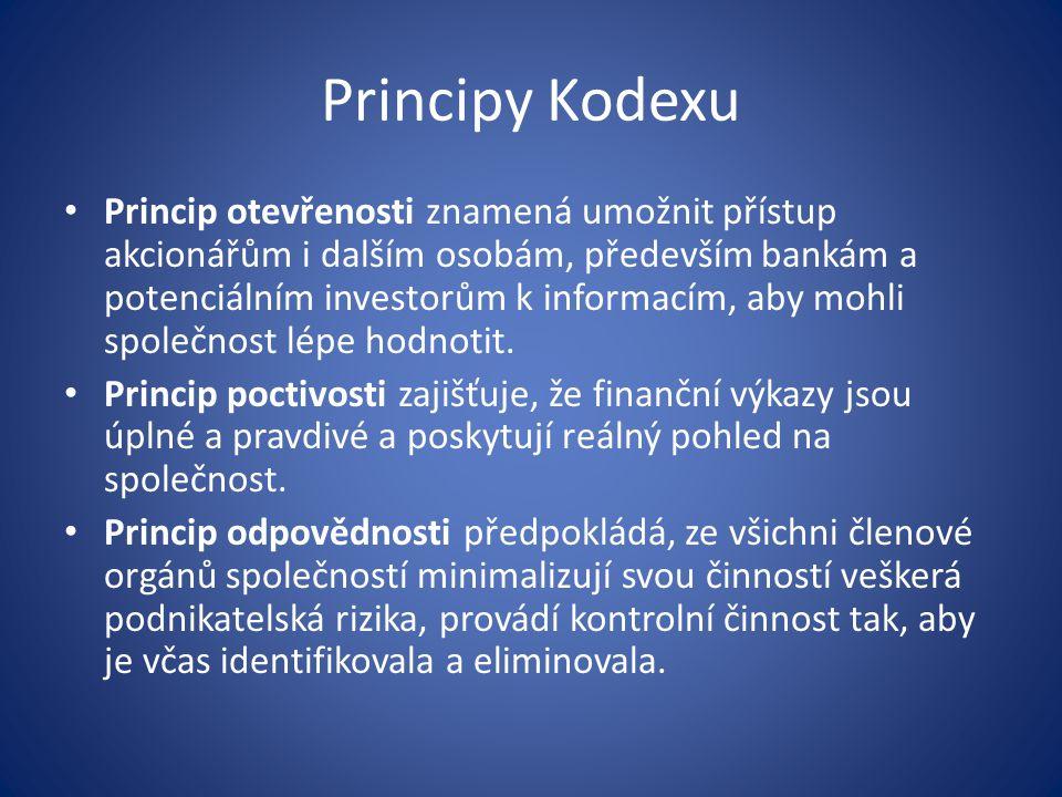 Principy Kodexu