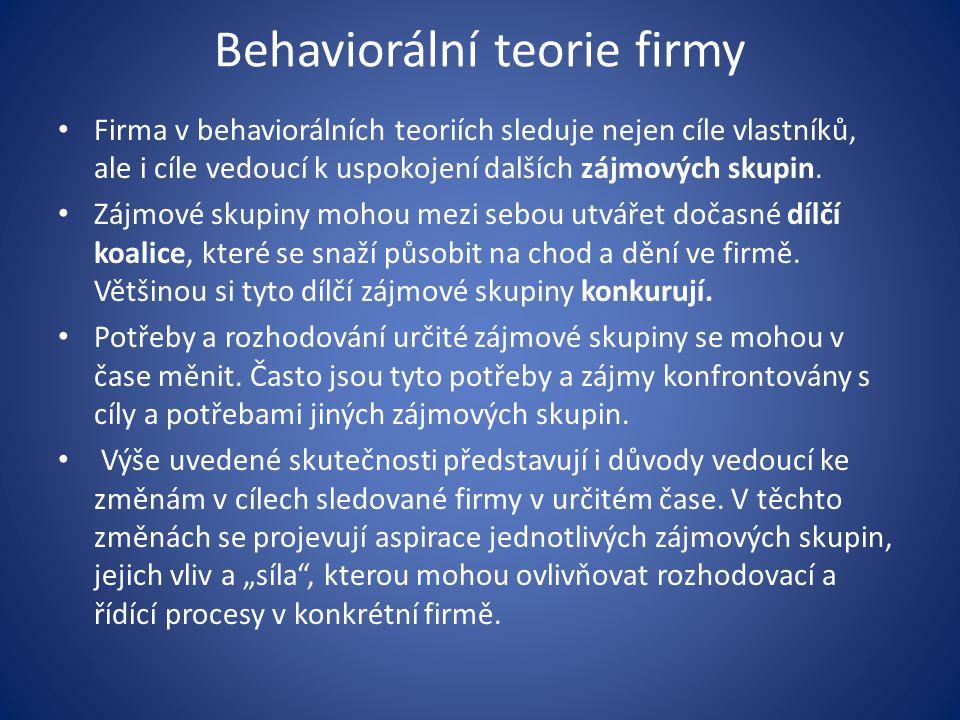 Behaviorální teorie firmy