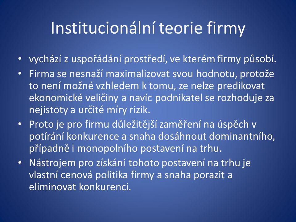 Institucionální teorie firmy