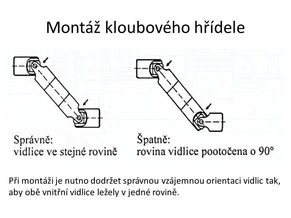Montáž kloubového hřídele