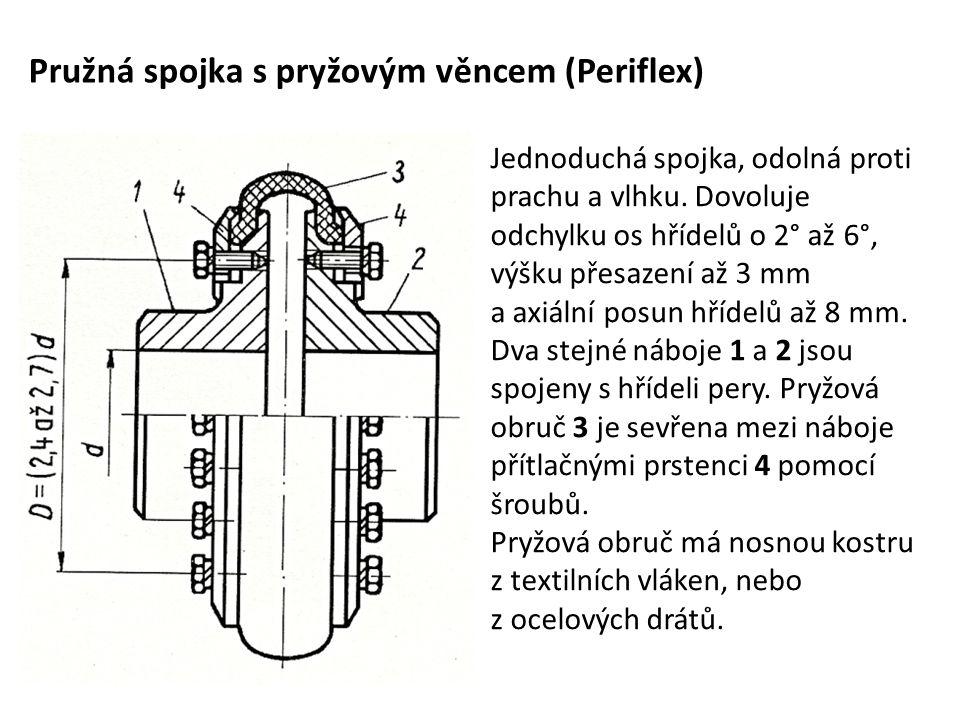 Pružná spojka s pryžovým věncem (Periflex)