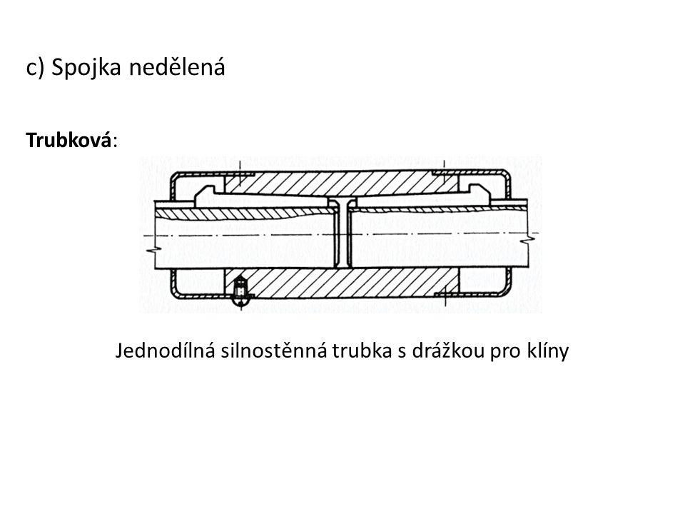 Jednodílná silnostěnná trubka s drážkou pro klíny