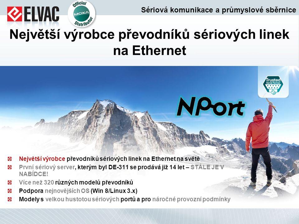 Největší výrobce převodníků sériových linek na Ethernet