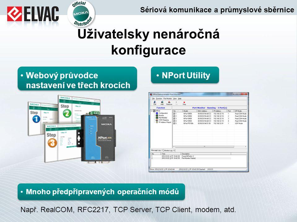 Uživatelsky nenáročná konfigurace