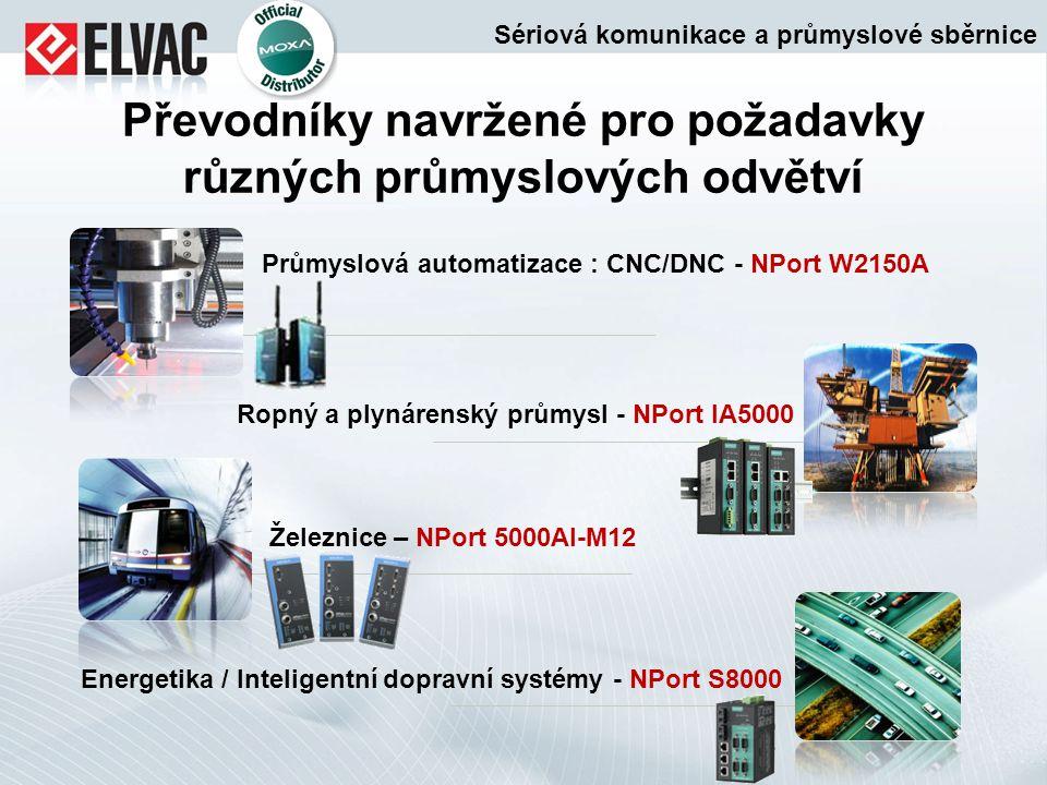 Převodníky navržené pro požadavky různých průmyslových odvětví