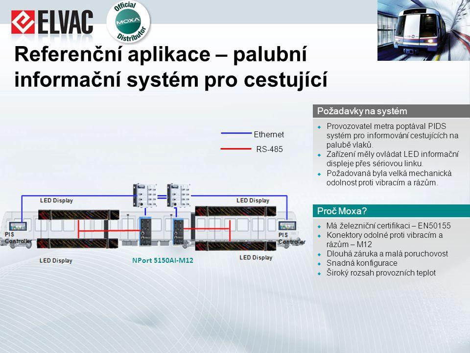 Referenční aplikace – palubní informační systém pro cestující