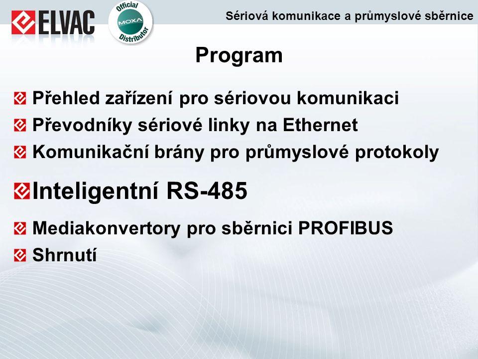 Inteligentní RS-485 Program Přehled zařízení pro sériovou komunikaci