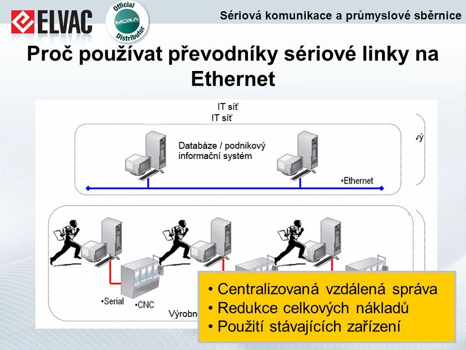 Proč používat převodníky sériové linky na Ethernet