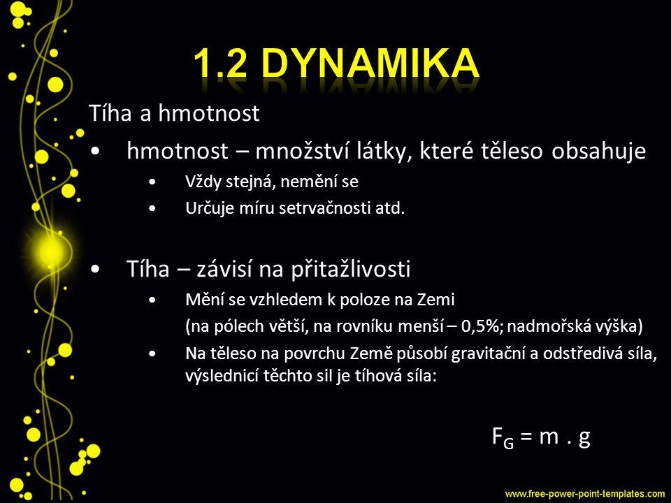 1.2 dynamika Tíha a hmotnost