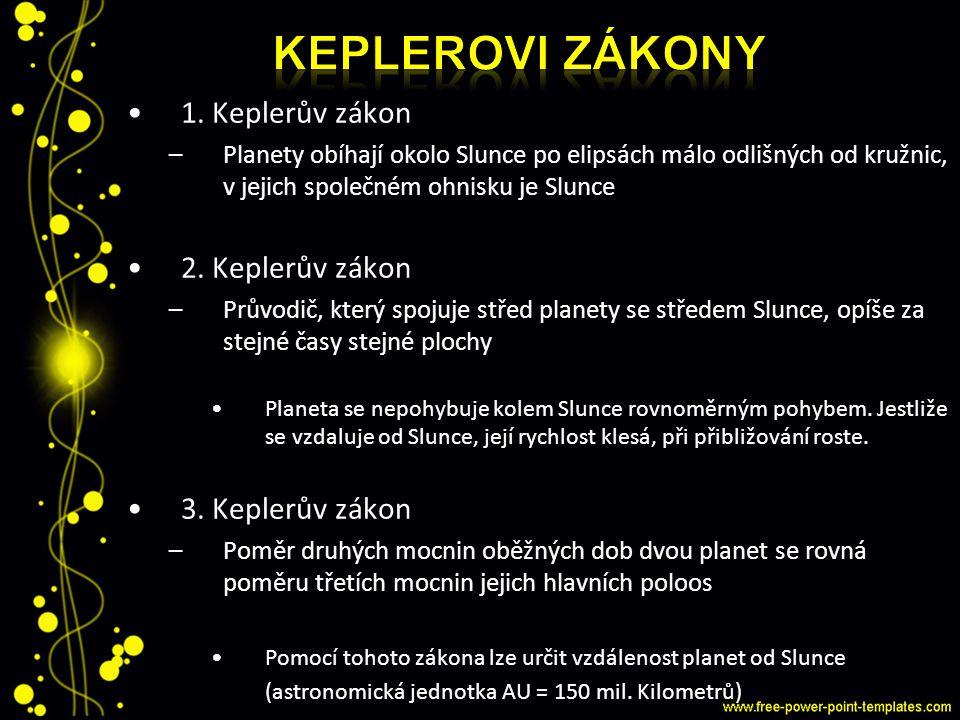 Keplerovi zákony 1. Keplerův zákon 2. Keplerův zákon 3. Keplerův zákon