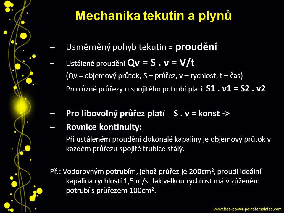 Mechanika tekutin a plynů
