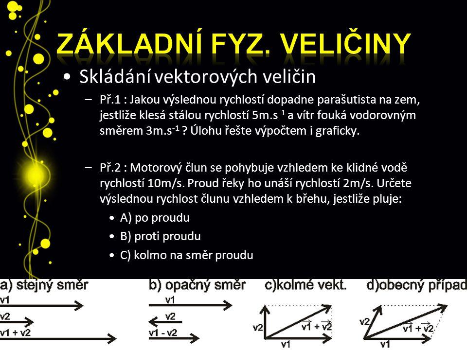 Základní fyz. veličiny Skládání vektorových veličin