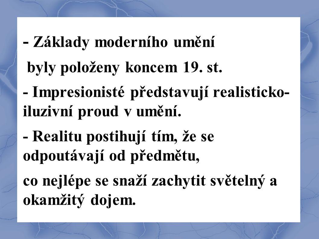 - Základy moderního umění