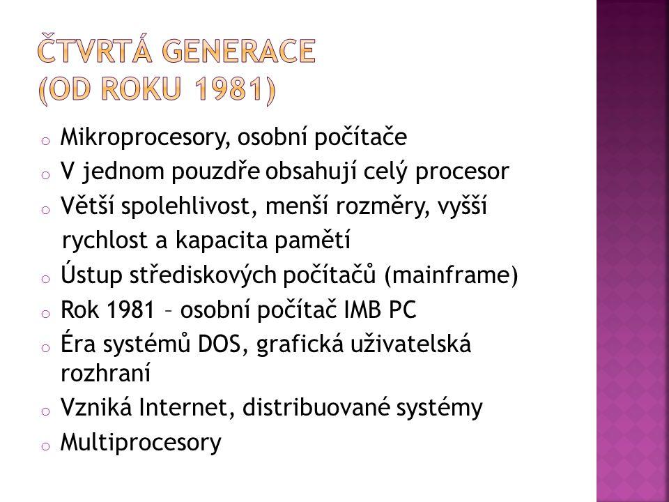 Čtvrtá generace (od roku 1981)