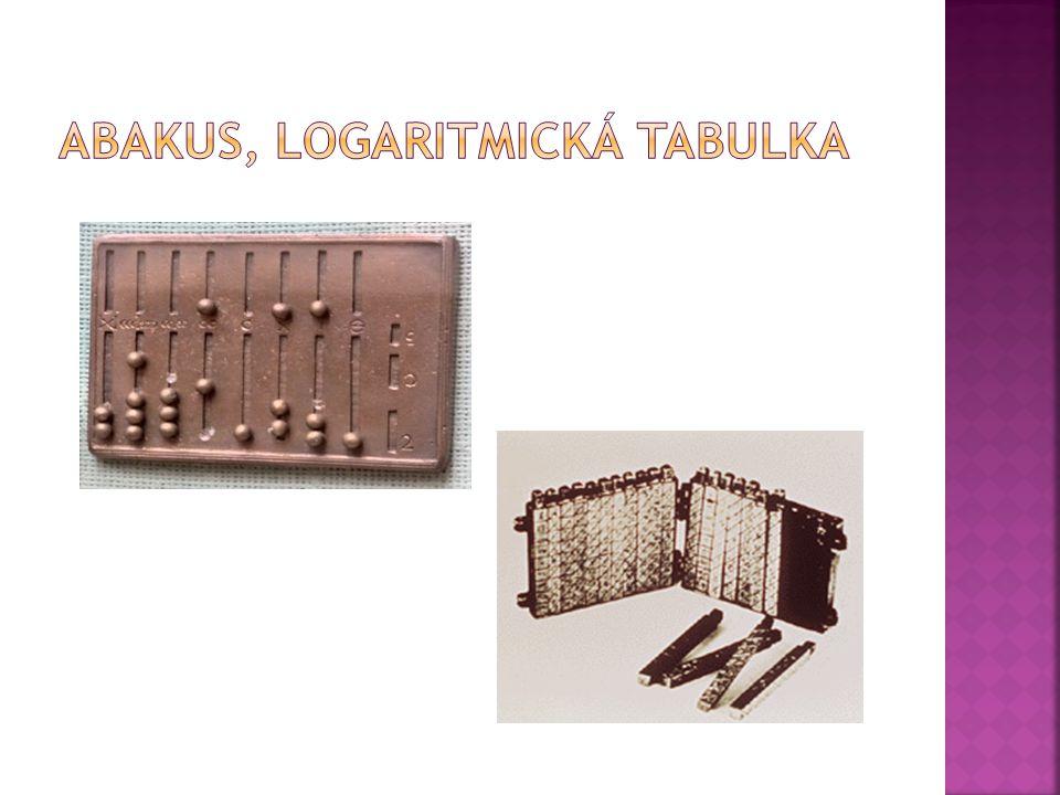 Abakus, logaritmická tabulka