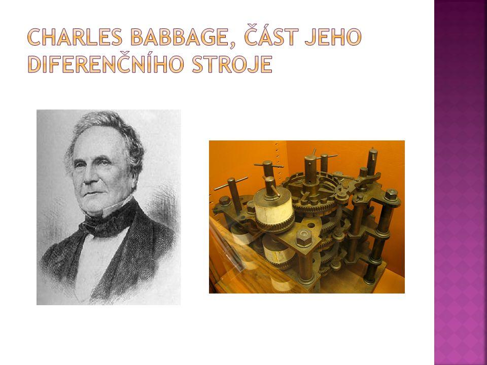Charles Babbage, část jeho diferenčního stroje