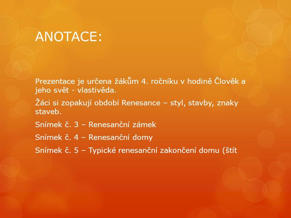 ANOTACE: