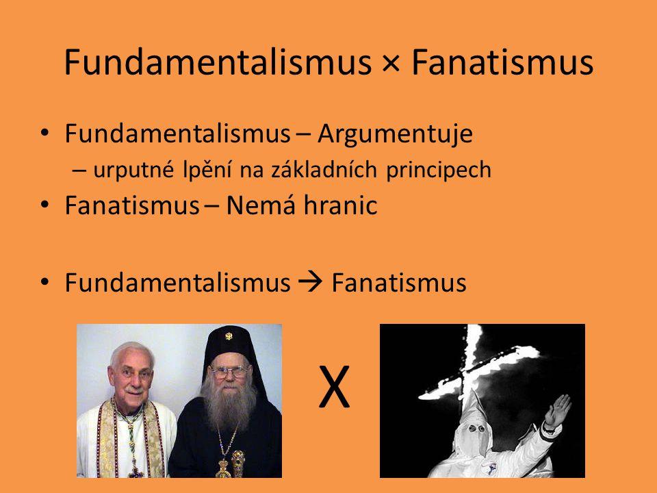 Fundamentalismus × Fanatismus