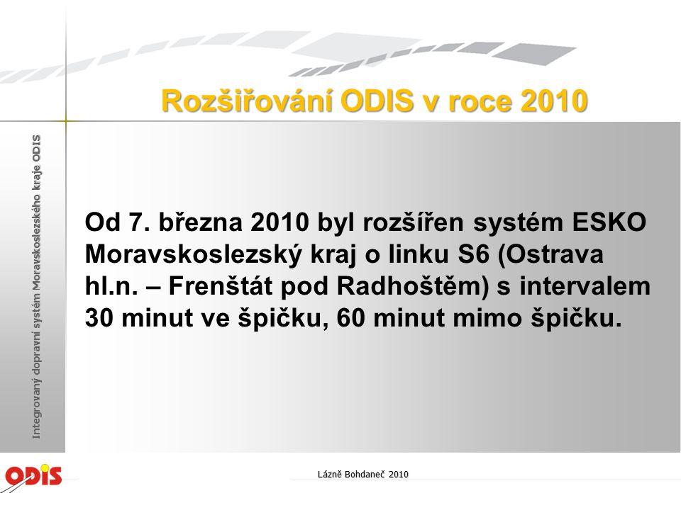 Rozšiřování ODIS v roce 2010
