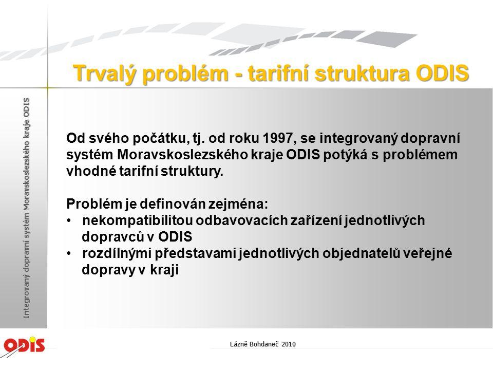 Trvalý problém - tarifní struktura ODIS