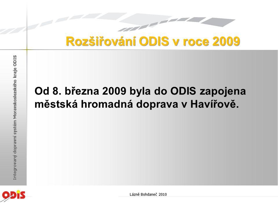 Rozšiřování ODIS v roce 2009