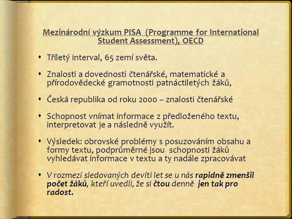 Mezinárodní výzkum PISA (Programme for International Student Assessment), OECD