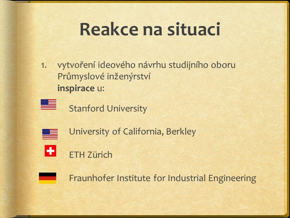 Reakce na situaci vytvoření ideového návrhu studijního oboru Průmyslové inženýrství inspirace u: