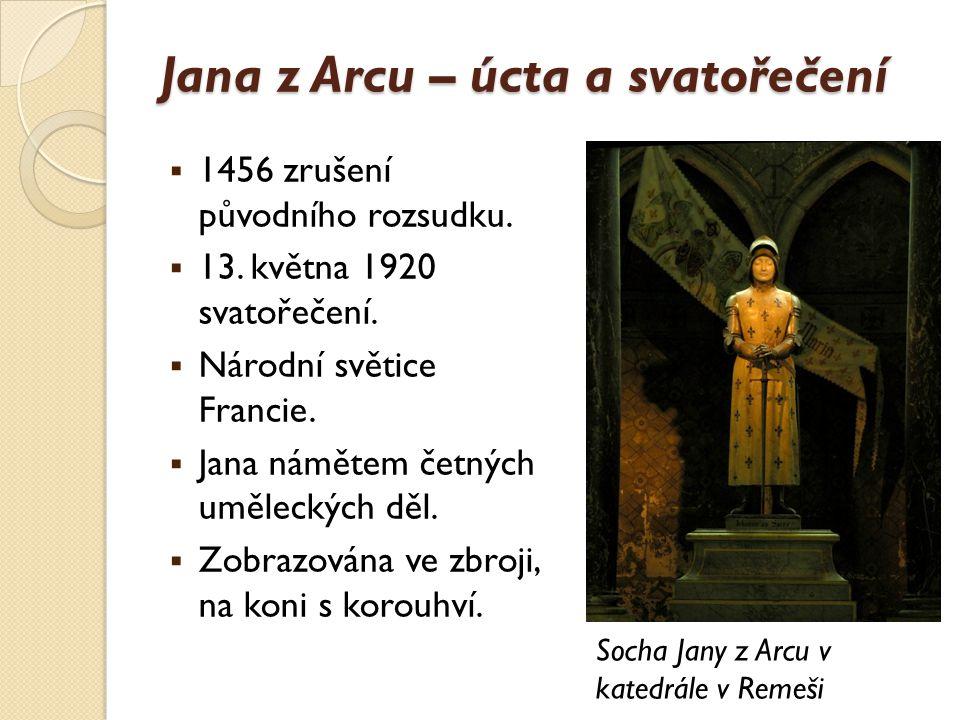 Jana z Arcu – úcta a svatořečení