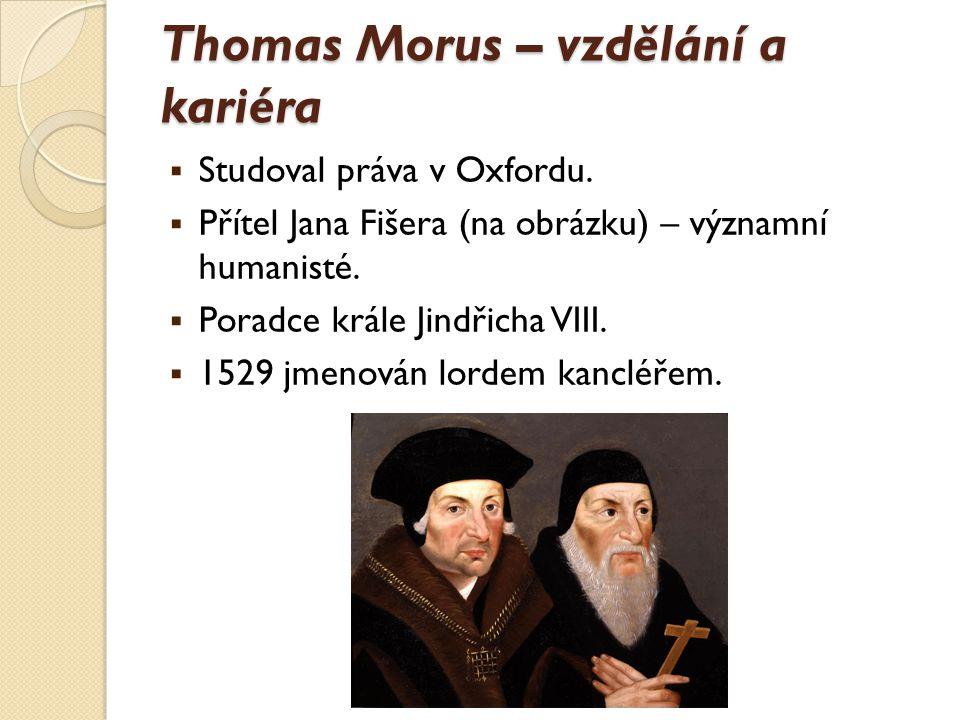 Thomas Morus – vzdělání a kariéra