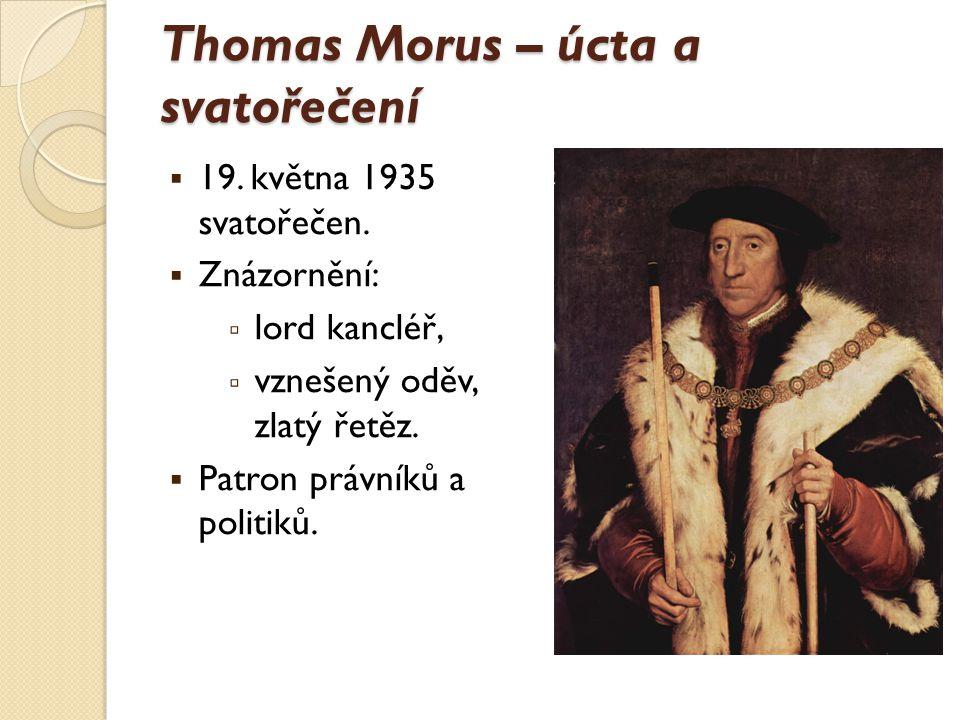 Thomas Morus – úcta a svatořečení